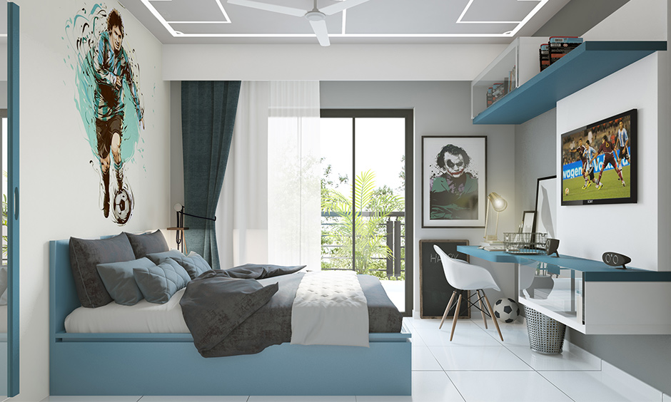 Simple modern bedroom false ceiling demarcated by lights, shapes, and edges design looks fantastic