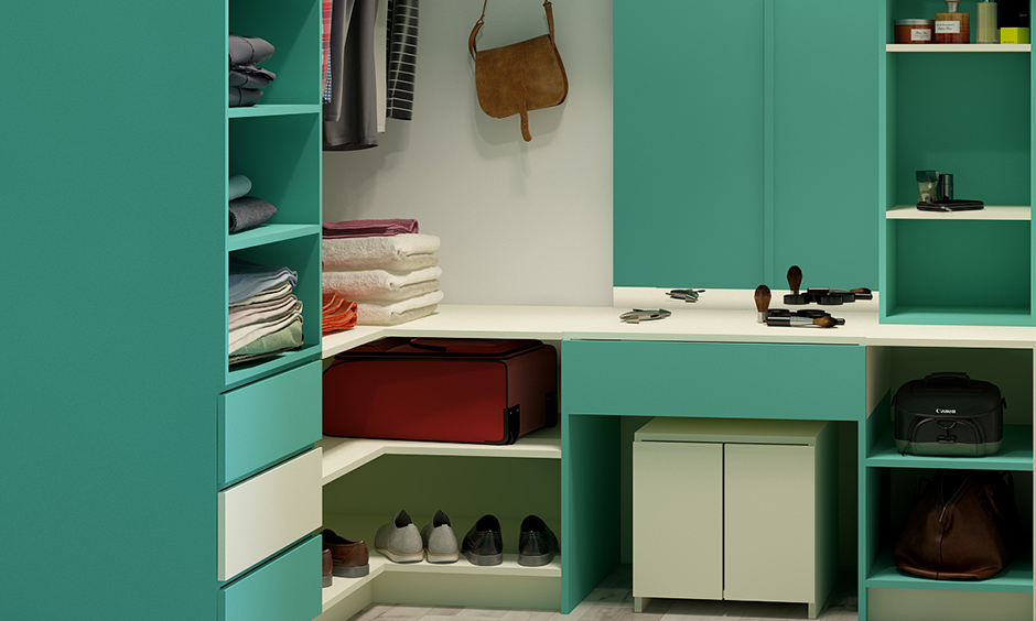 Dress cupboard design with unique choice of colour