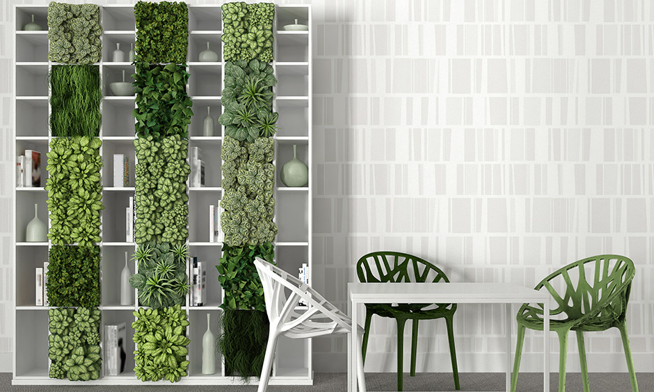 Vertical garden ideas on a wooden or metal rack near your balcony