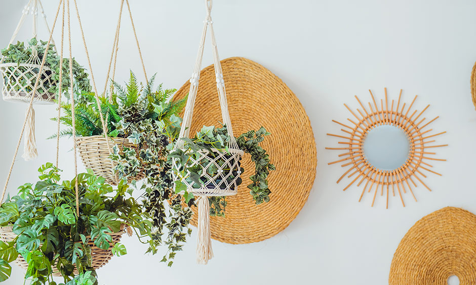 Simple vertical garden design ideas with bohemian and slightly indie home decor