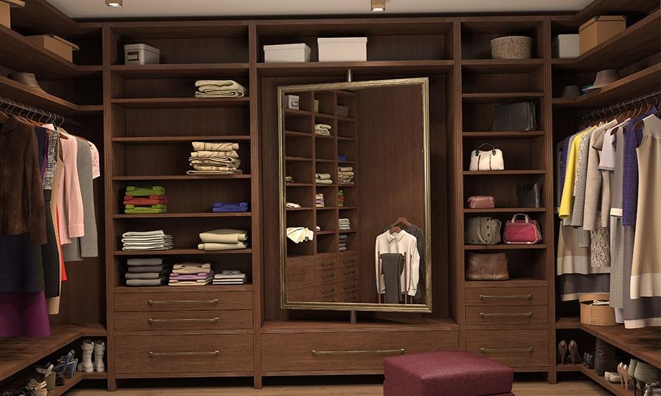 Dressing room closet design to save space, it is a closet design idea