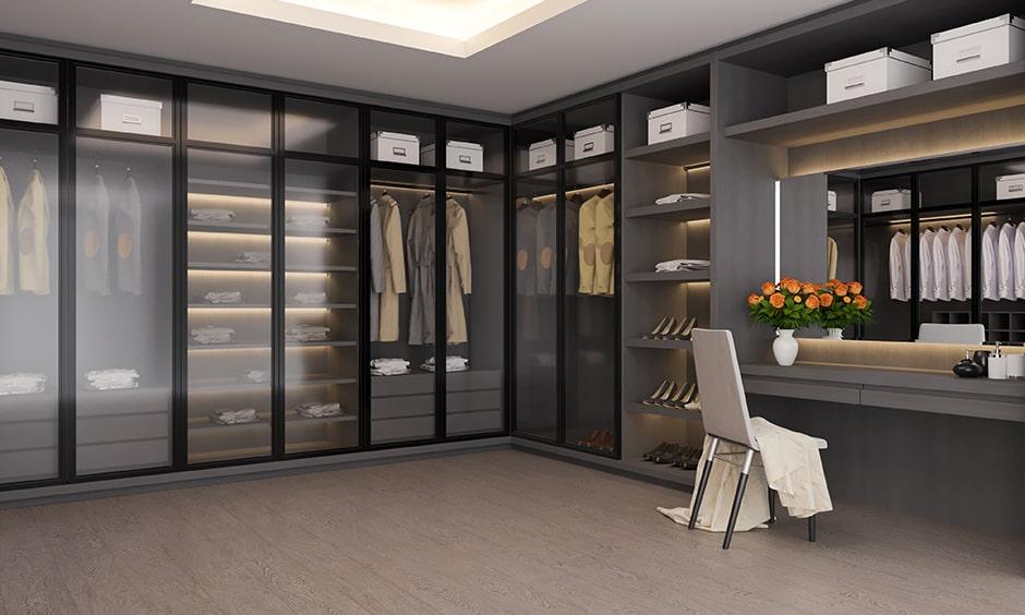 Luxury closet design ideas suitable for slightly spacious homes