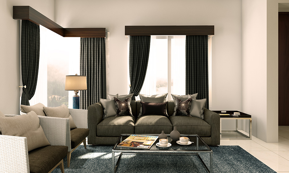 Beautiful black designer curtains for living room are trendy and look chic and stunning