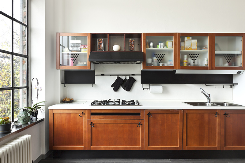 modern kitchen cabinets colors where glass shutters bring in subtle style to the overall look