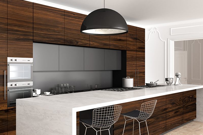 Wall modern kitchen cabinets price with tons of storage and marble countertop