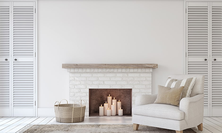 White brick fireplace design make a style statement to your house
