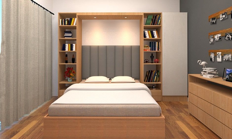 Bedroom library design ideas with a book and pop right into bed