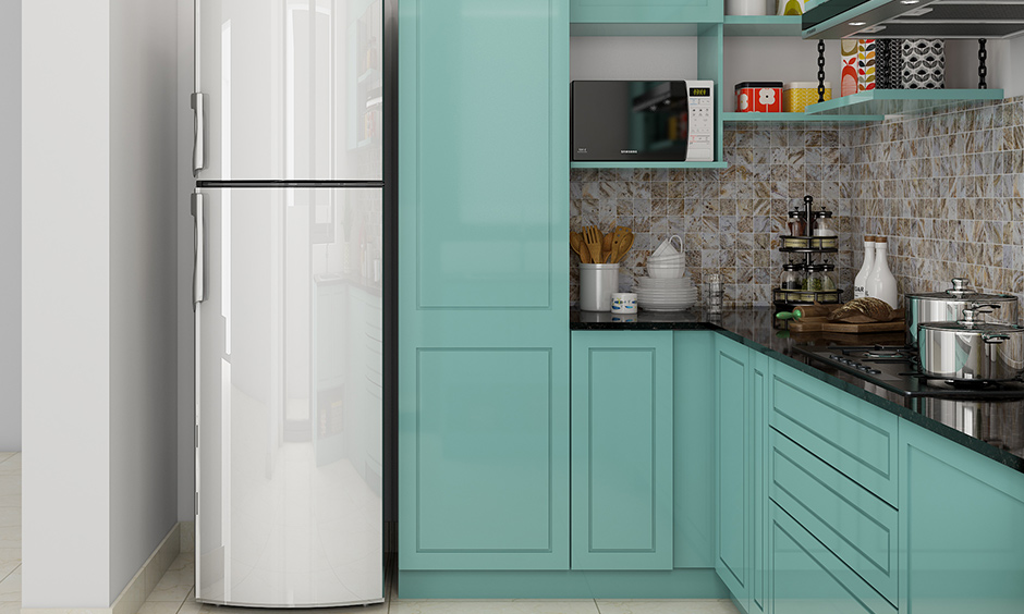 Recessed glass kitchen cabinet doors which are suited for modern as well as classic kitchen cabinet designs