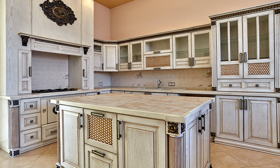 Distressed kitchen cabinet door fronts which are a big hit among modern homeowners