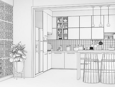 Best interior designers of modular kitchen design types.