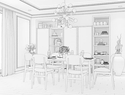 Interior design - How to design a dining room