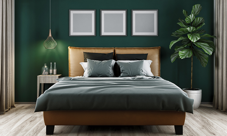 According to Vastu bedroom colour, bottle green representation of the feelings that nature evokes in us