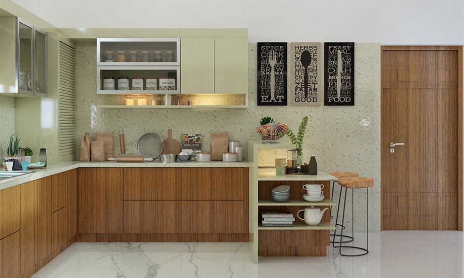 Traditional indian kitchen design gives you a classic feel