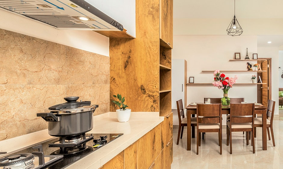 Traditional indian kitchen design with a truly rustic and country-side look