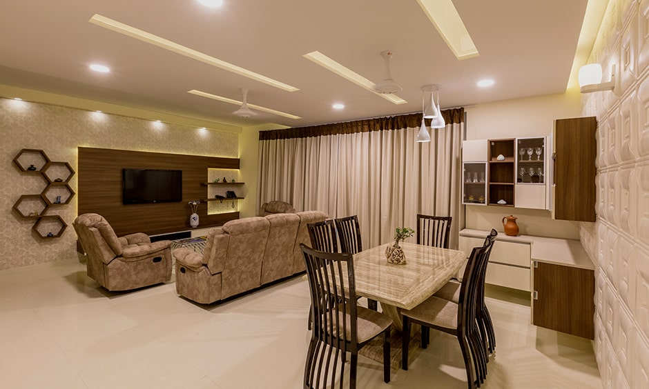 3 bhk interior design for a modern 3bhk flat interior bannerghatta road with classic luxury living room with sofas