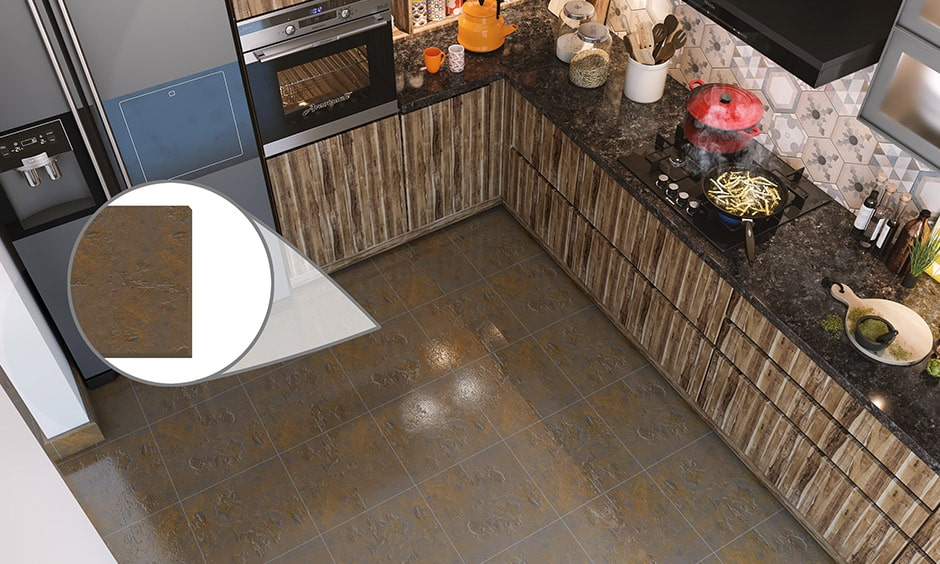 Linoleum is a best option for kitchen flooring material