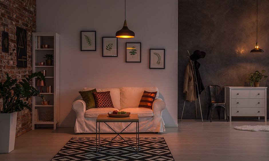 Monsoon decor ideas with warm lights in your living room