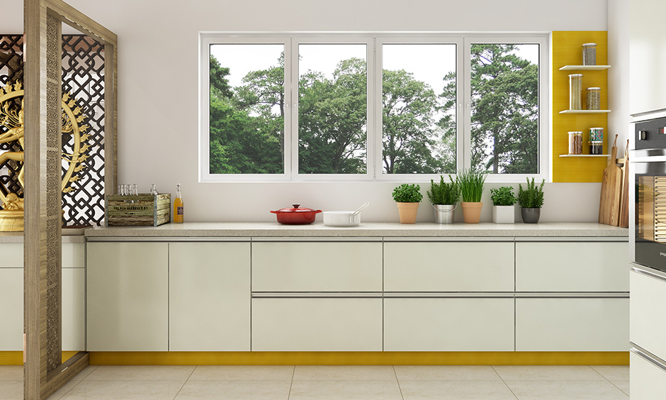 Sleek wardrobe design in kitchen is perfect for those who love cleans lines and less clutter