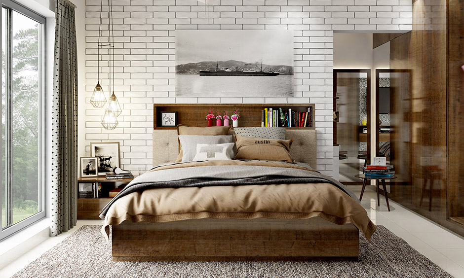 Types of headboards, Bookcase headboards are designed so that you have enough space to store away all your books.