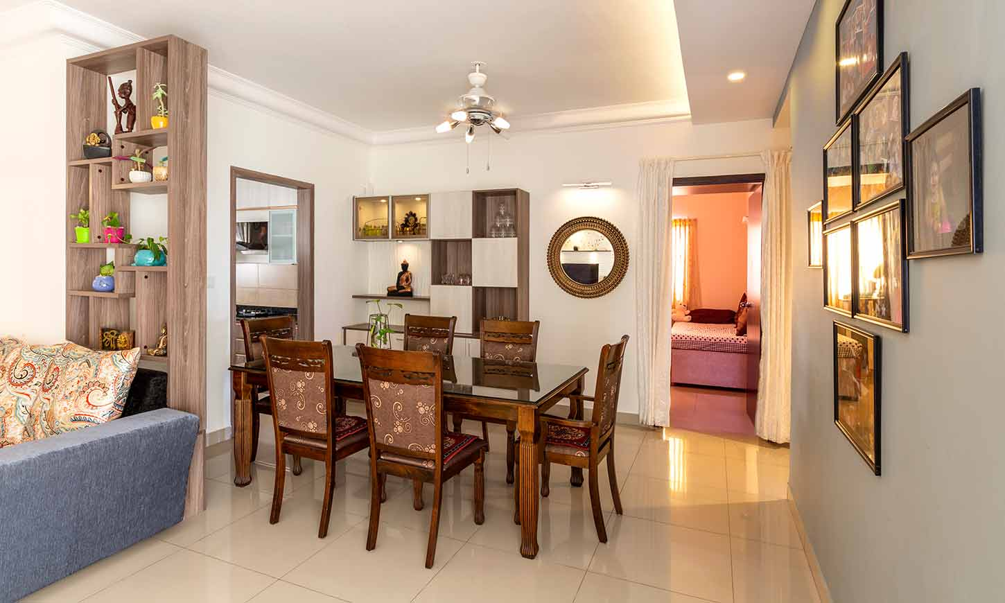 Dining room designed by top interior designers and decorators in bangalore