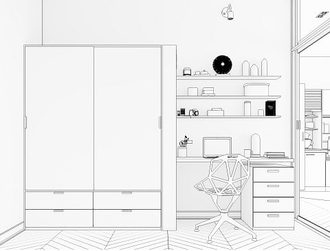 A Home interiors guide on How Do I Choose A Desk For My Home Office?