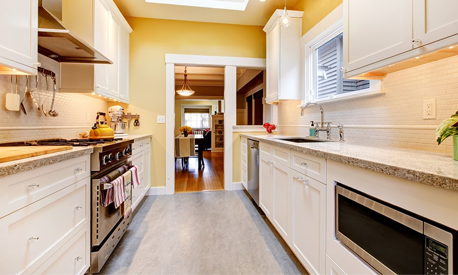 90s galley kitchen layout takes back to your golden days