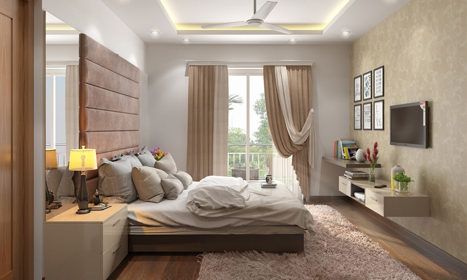 Beige themed couple bedroom ideas for your home