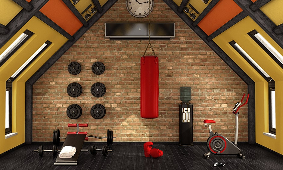 Transform your attic into an open, airy home gym cum yoga studio