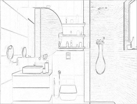 Checklist to bathroom interior design