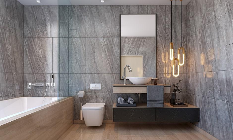 Checklist to bathroom interior design with pendant lights