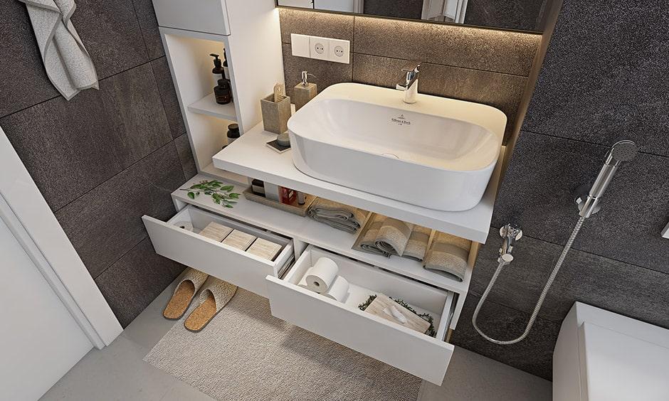 Checklist to bathroom interior design, bathroom vanity unit is an essential element for your bathroom interiors