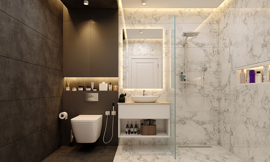 Essential elements for your bathroom interiors are spotlights