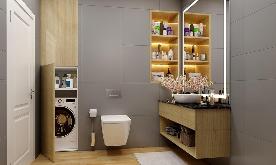 Checklist to bathroom interior design, LED strip lights are lighting types