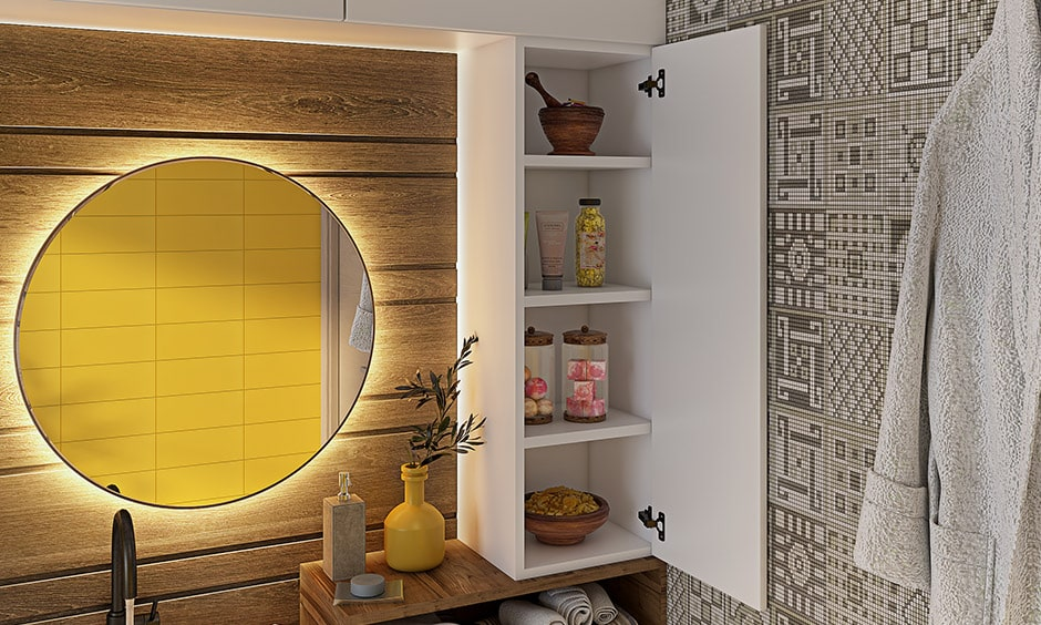 Mirror backlighting is an essential interior design element for bathroom interiors