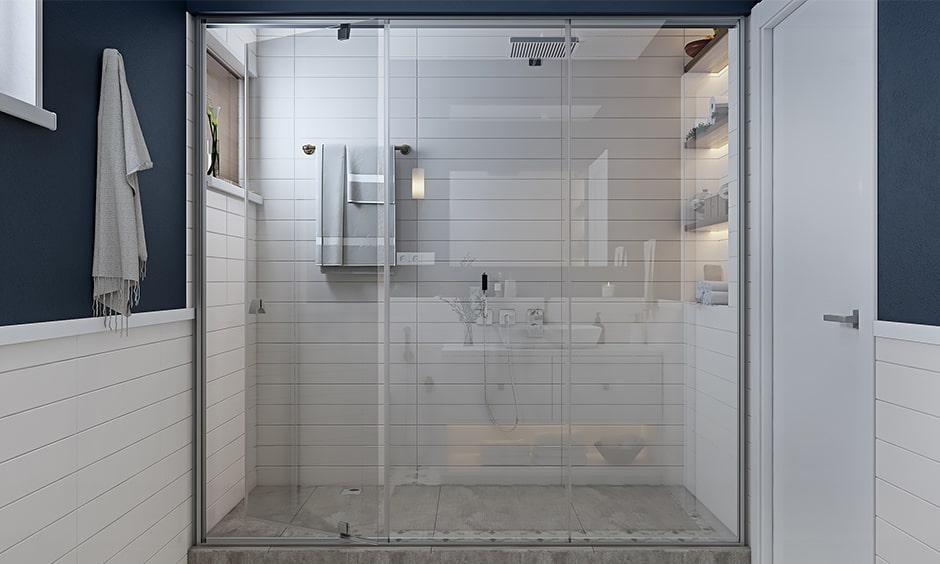 Checklist to bathroom interior design with shower fixtures