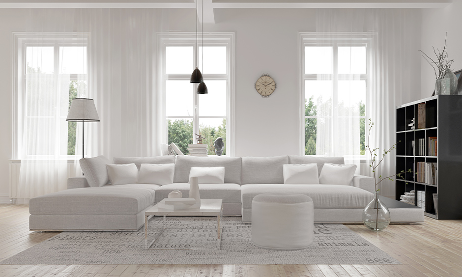 neutral colors with white which works in almost every room in your home