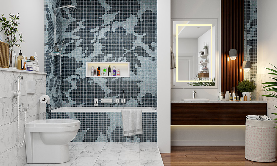Bathroom flooring with shower fixture which is preferred choice of homeowners