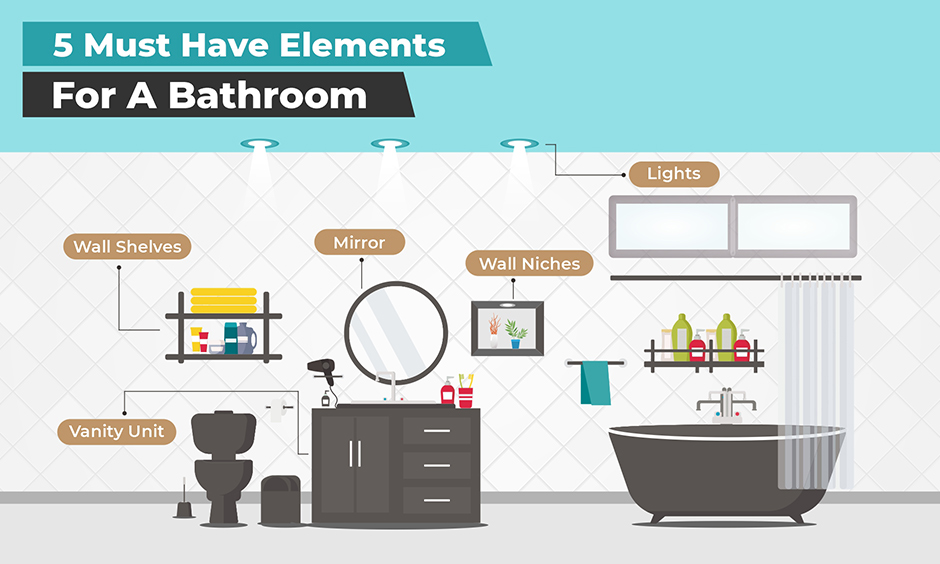 How to design a bathroom with different elements