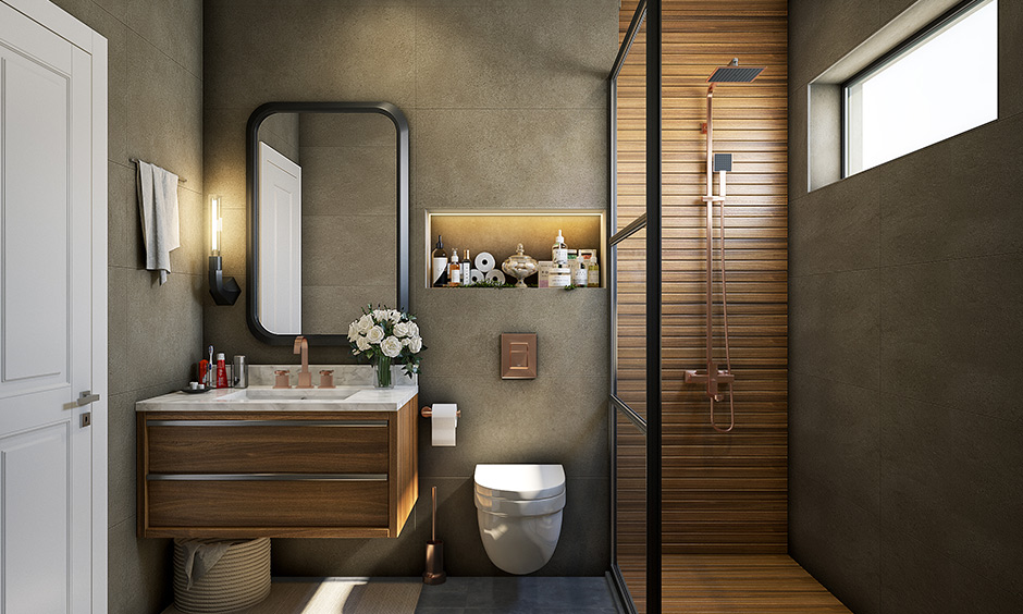 Fixture bathroom materials copper made of solid copper or electrochemically coated with copper & available in matt.
