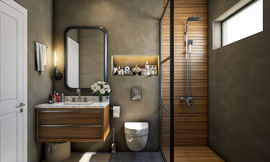 Fixture bathroom materials stainless are chrome plated to prevent rusting & highly durable.