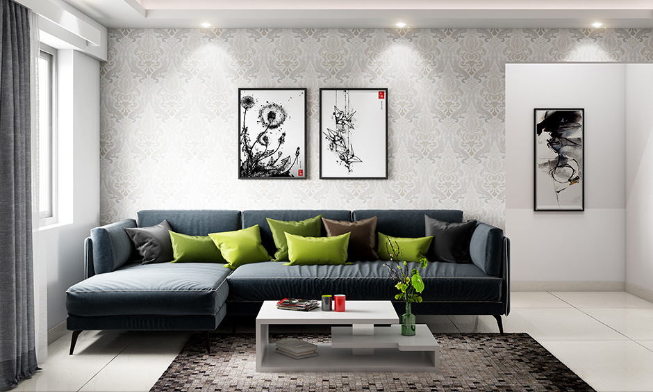 Interior decoration guide of the living room with modern floor rung in shades of black