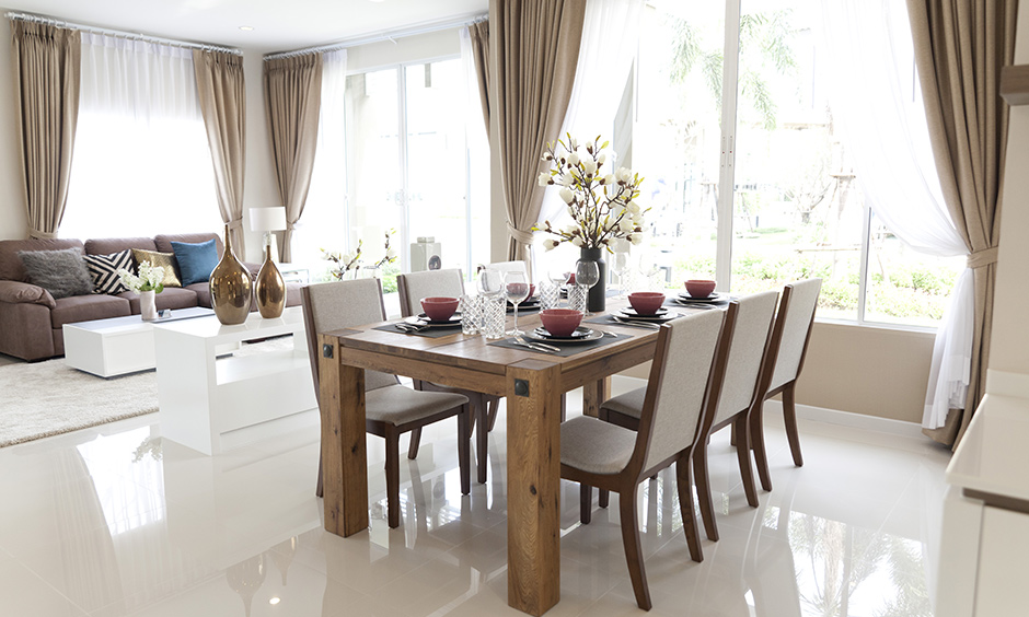 Dining room drapes and curtains curtains and blinds surrounded with beautiful white net and cotton curtains