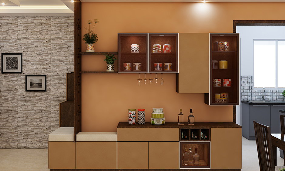 3bhk interior design package with dining room