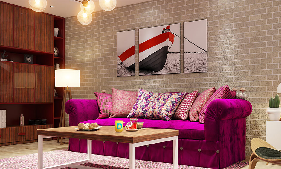 Magenta pink Knole sofa gives a royal touch to your home this living room bench seat is perfect