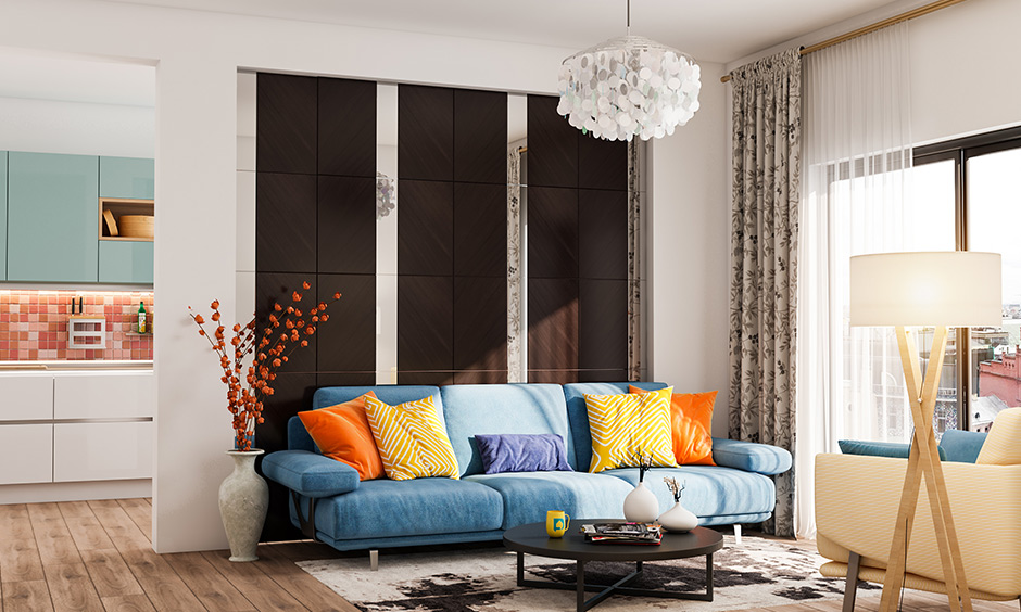 Blue lawson sofa living room sitting chairs is sure to smooth your mood any day.