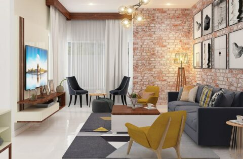 Brick wall design to make a beautiful home