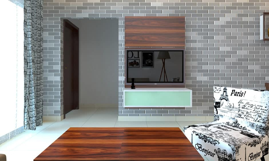 Grey brick wall design gives elegant look to your home interiors