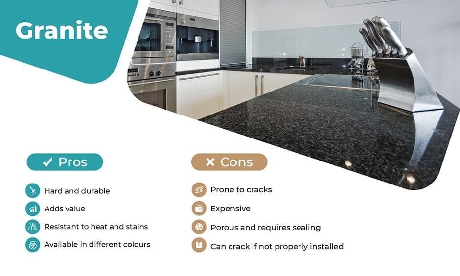 Granite kitchen countertops pros and cons