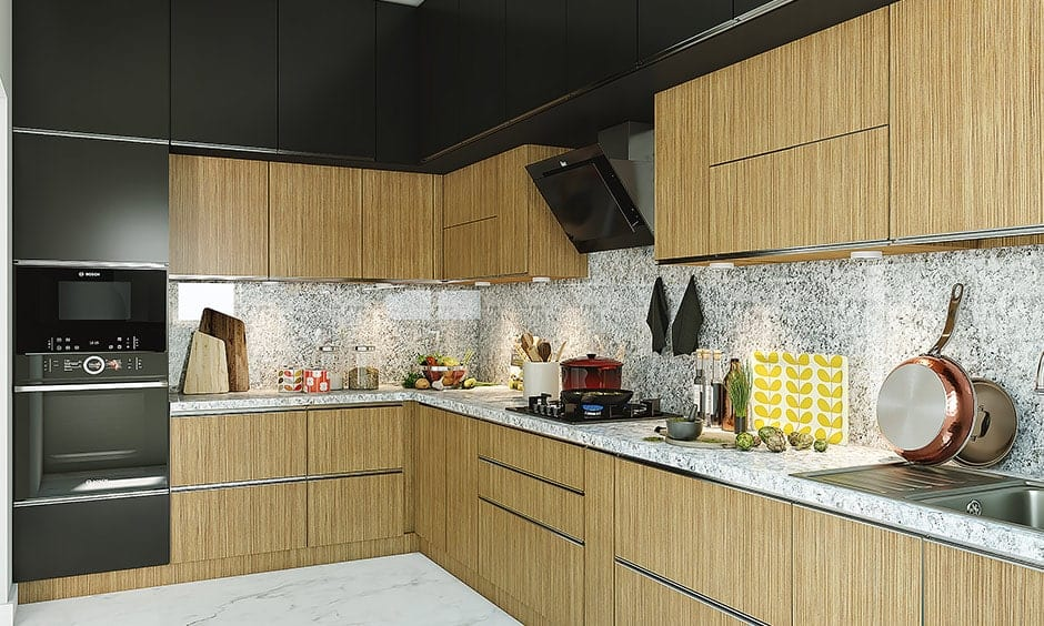 Granite kitchen countertop is a common material for kitchen countertop