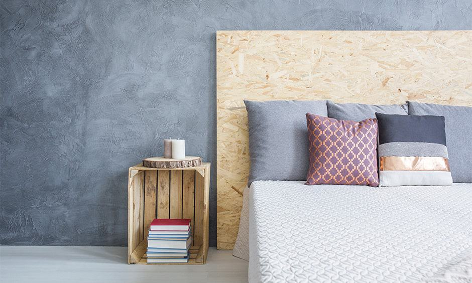 DIY wooden headboard designs in plywood, some nails and a hammer